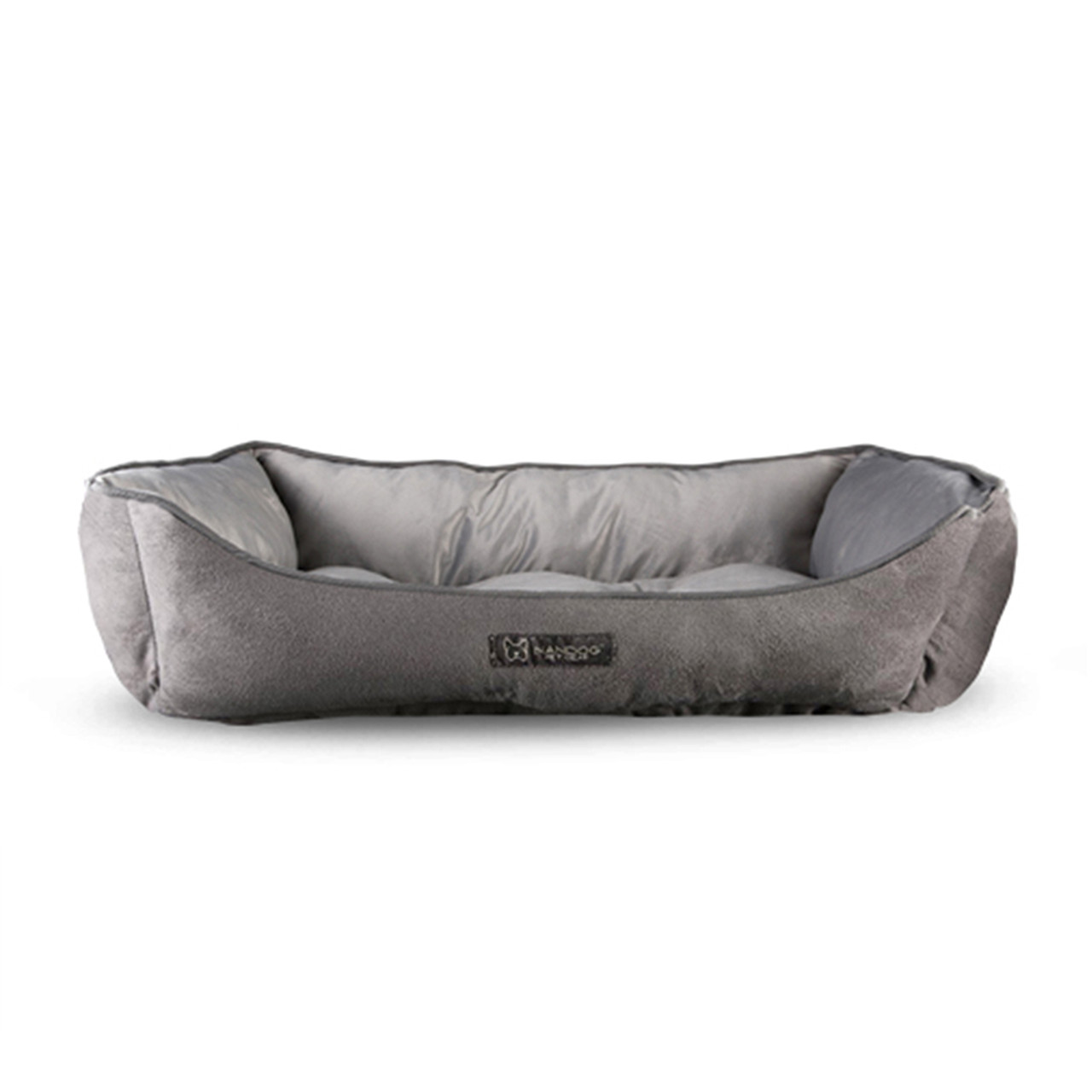 NanDog Light Grey Plush Pet Bed