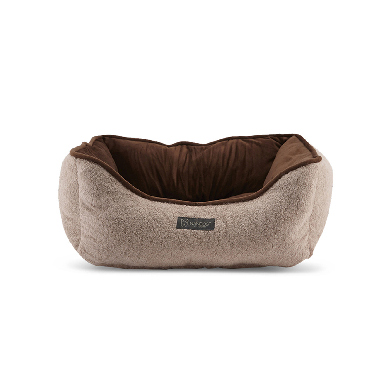NanDog Tan Cashmere Plush Pet Bed