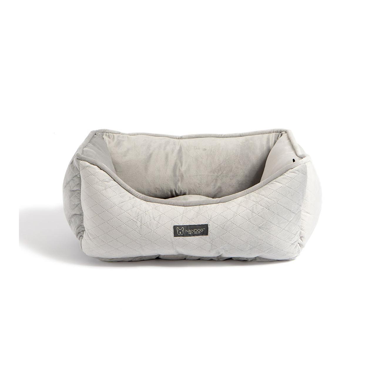 NanDog Light Grey Fleece Pet Bed