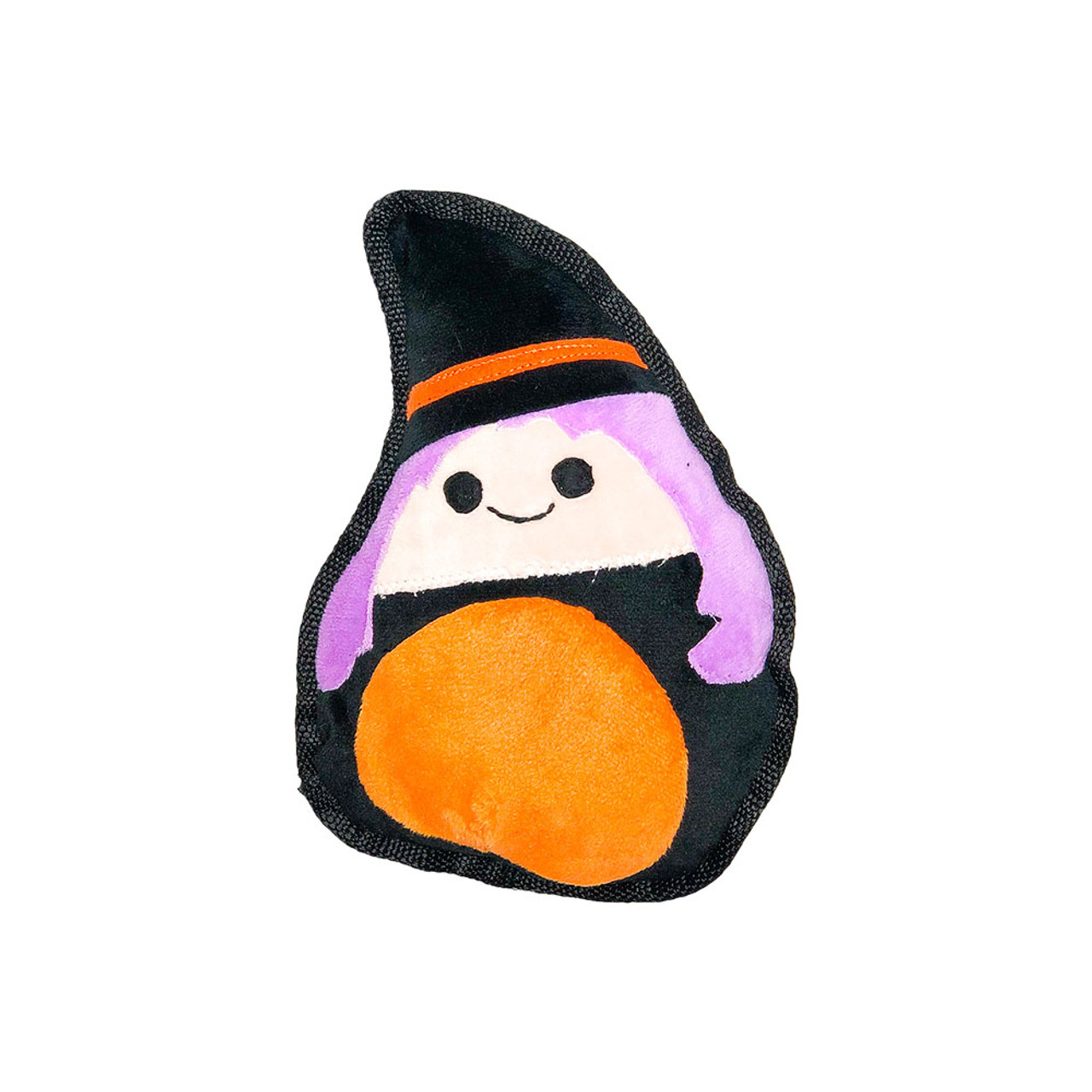 Patchwork Pet Halloween Flat Witch Plush Dog Toy