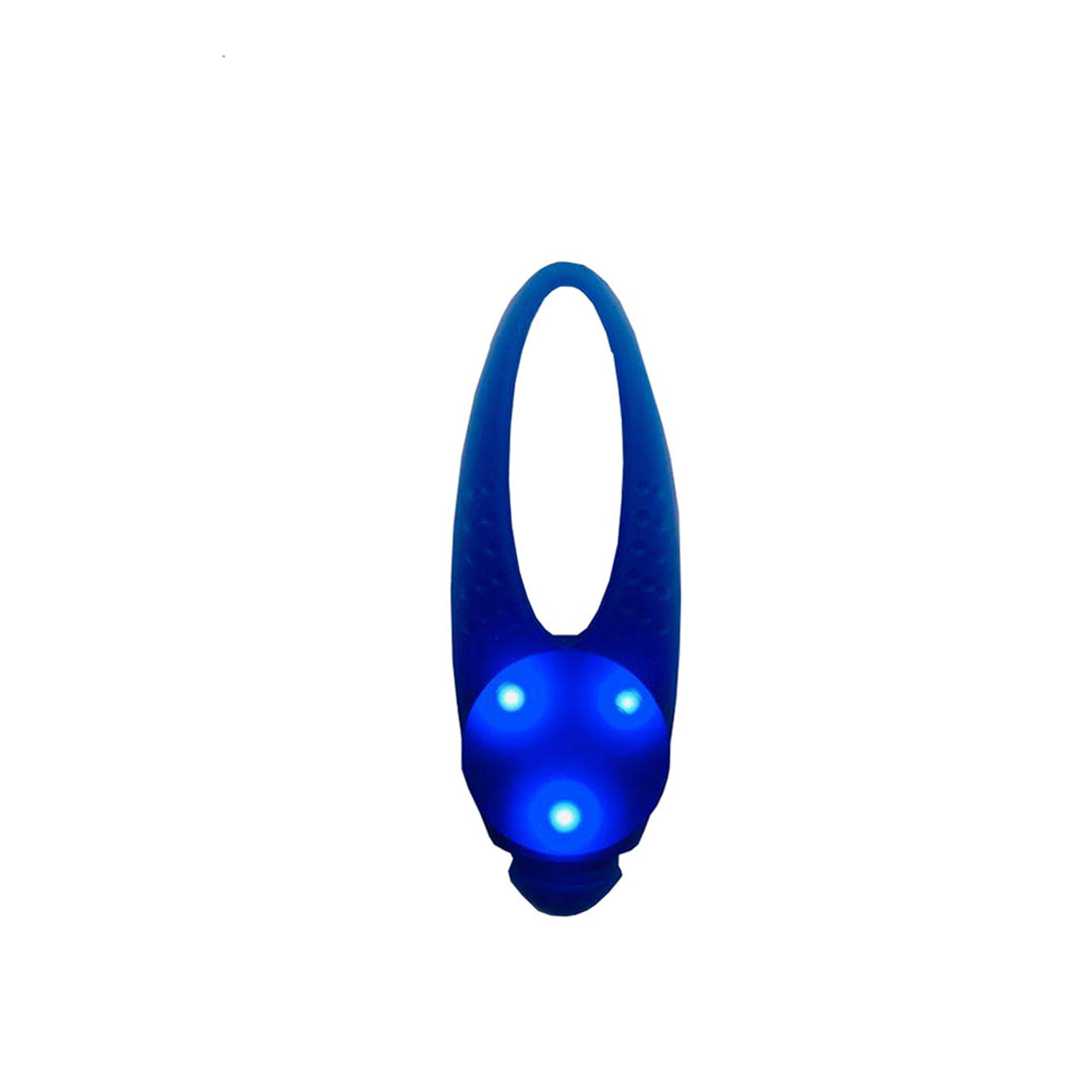 Friends Forever LED Silicone Wrap Dog Safety Light - Front, Blue