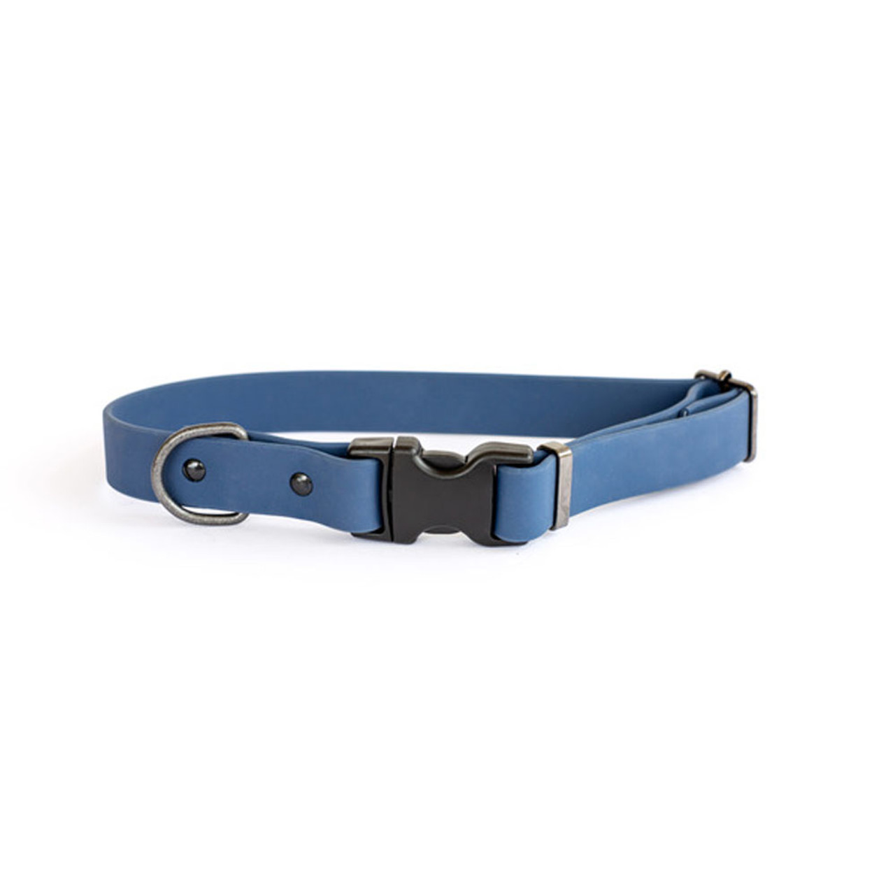 Classy Waterproof Soft PVC Coated Nylon Navy Dog Collar