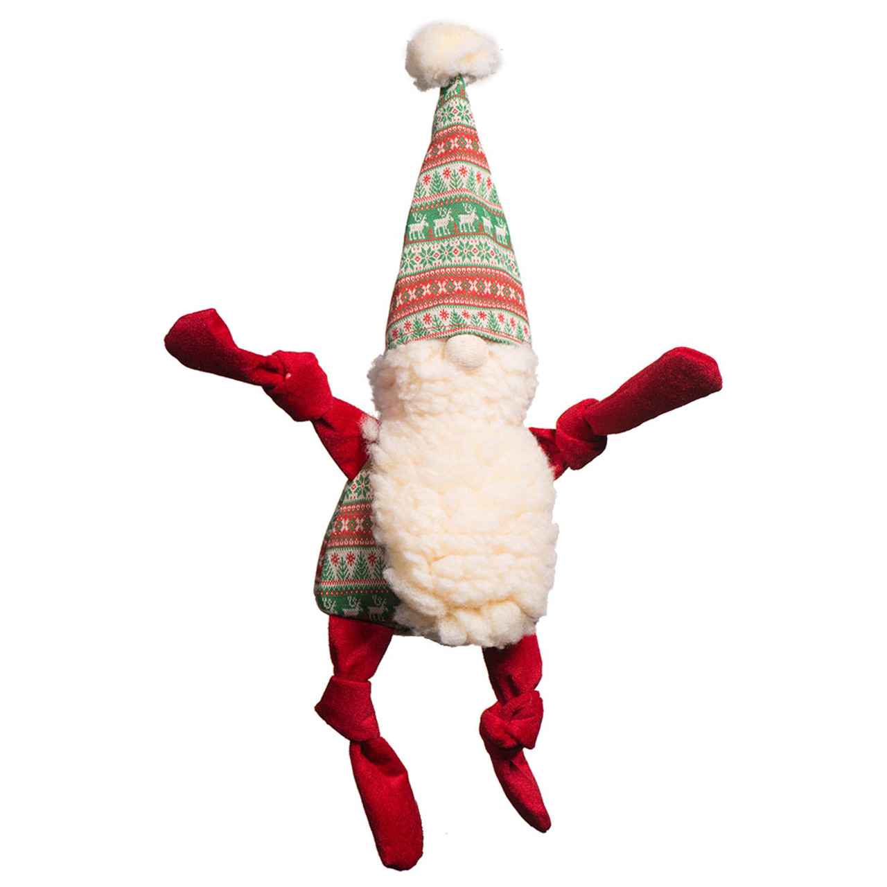 HuggleHounds Christmas Knottie Winter Wonder(land) Gnome Plush Dog Toy