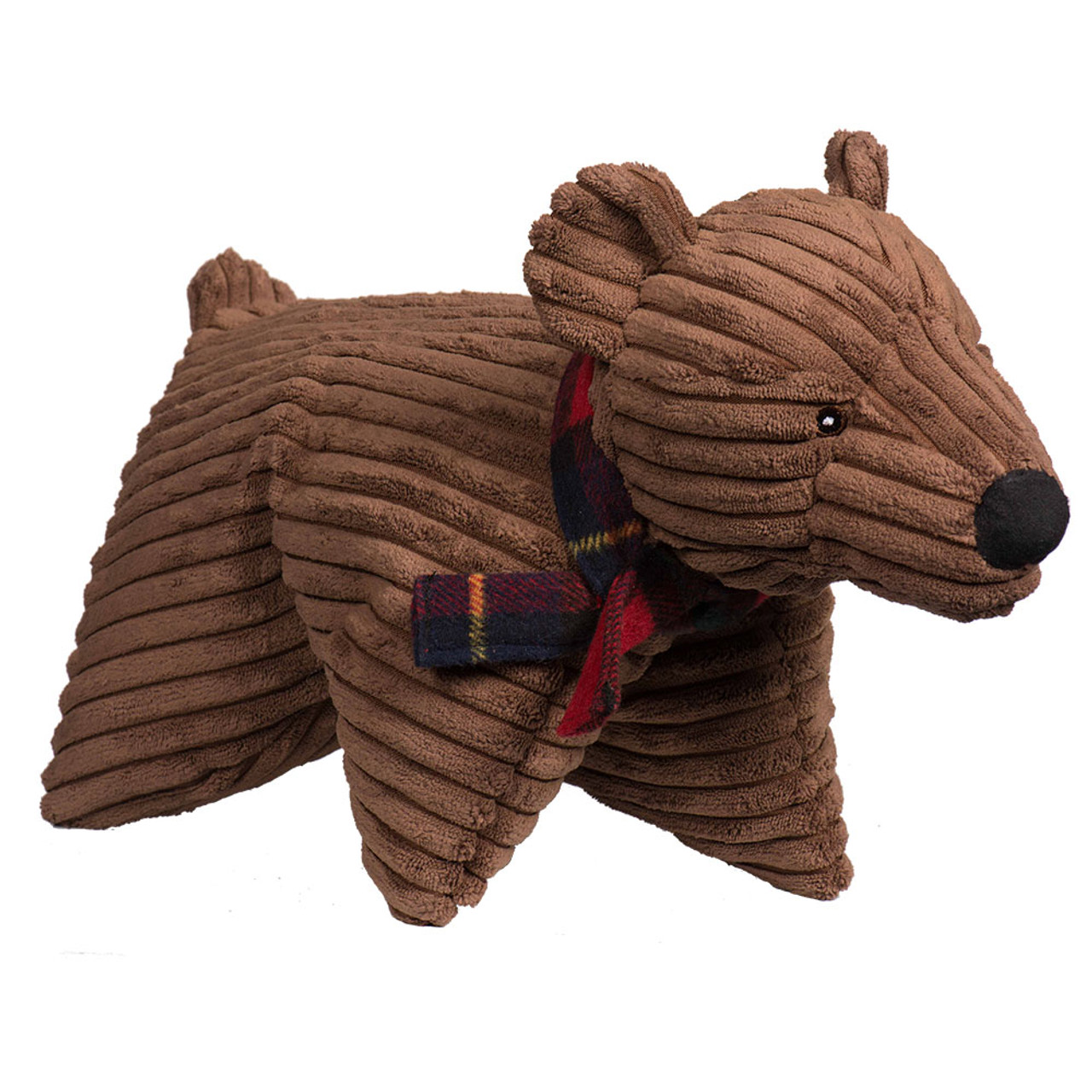 HuggleHounds Christmas Squooshie Original Corduroy Polar Bear Plush Dog Toy