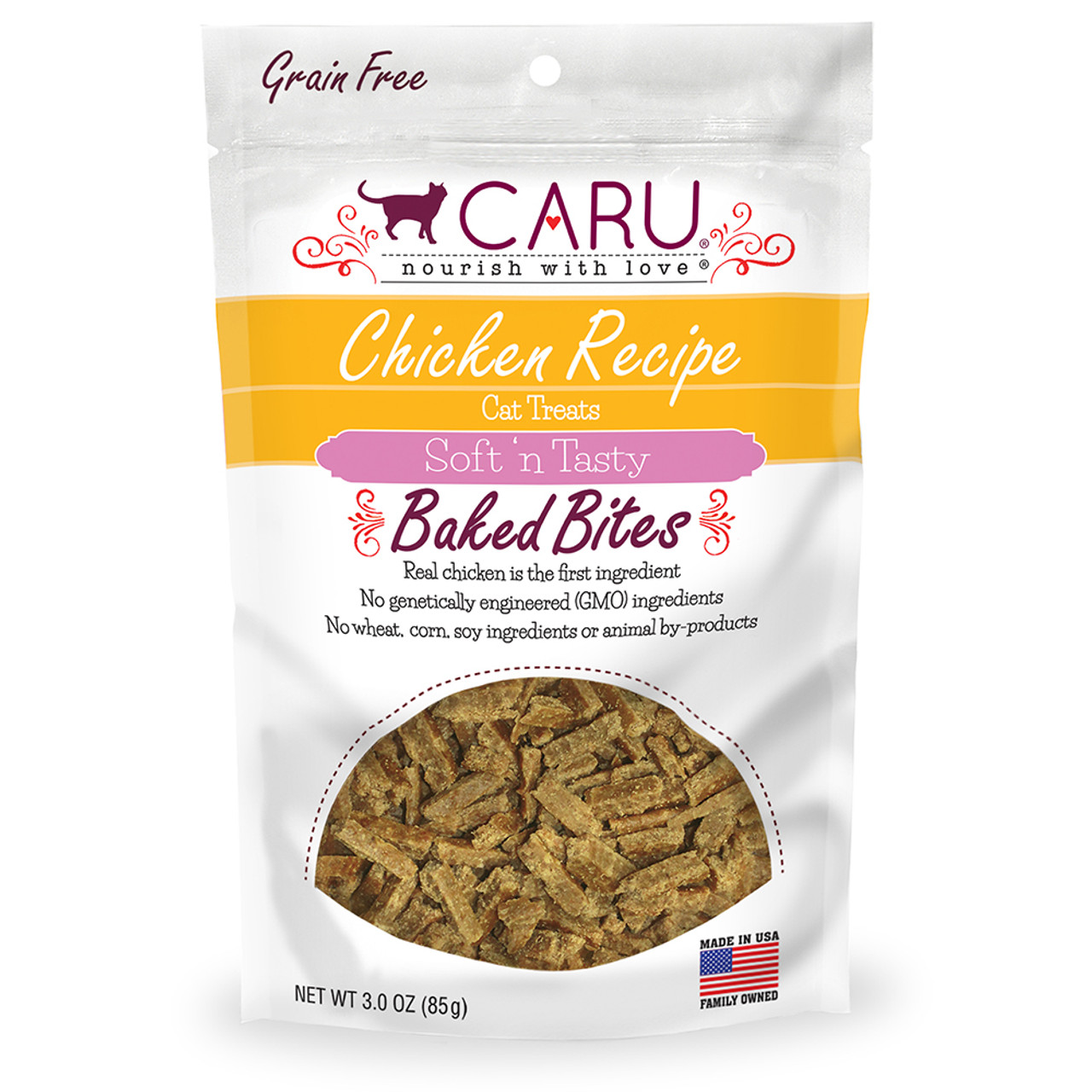 Caru Soft 'n Tasty Baked Bites Chicken Recipe Cat Treats