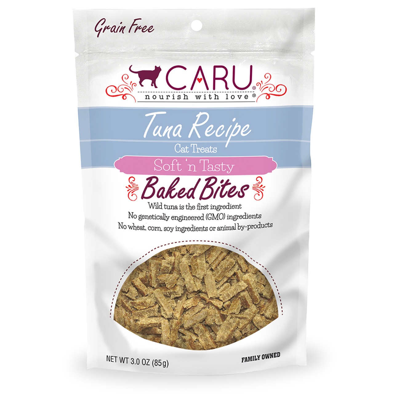 Caru Soft 'n Tasty Baked Bites Tuna Recipe Cat Treats