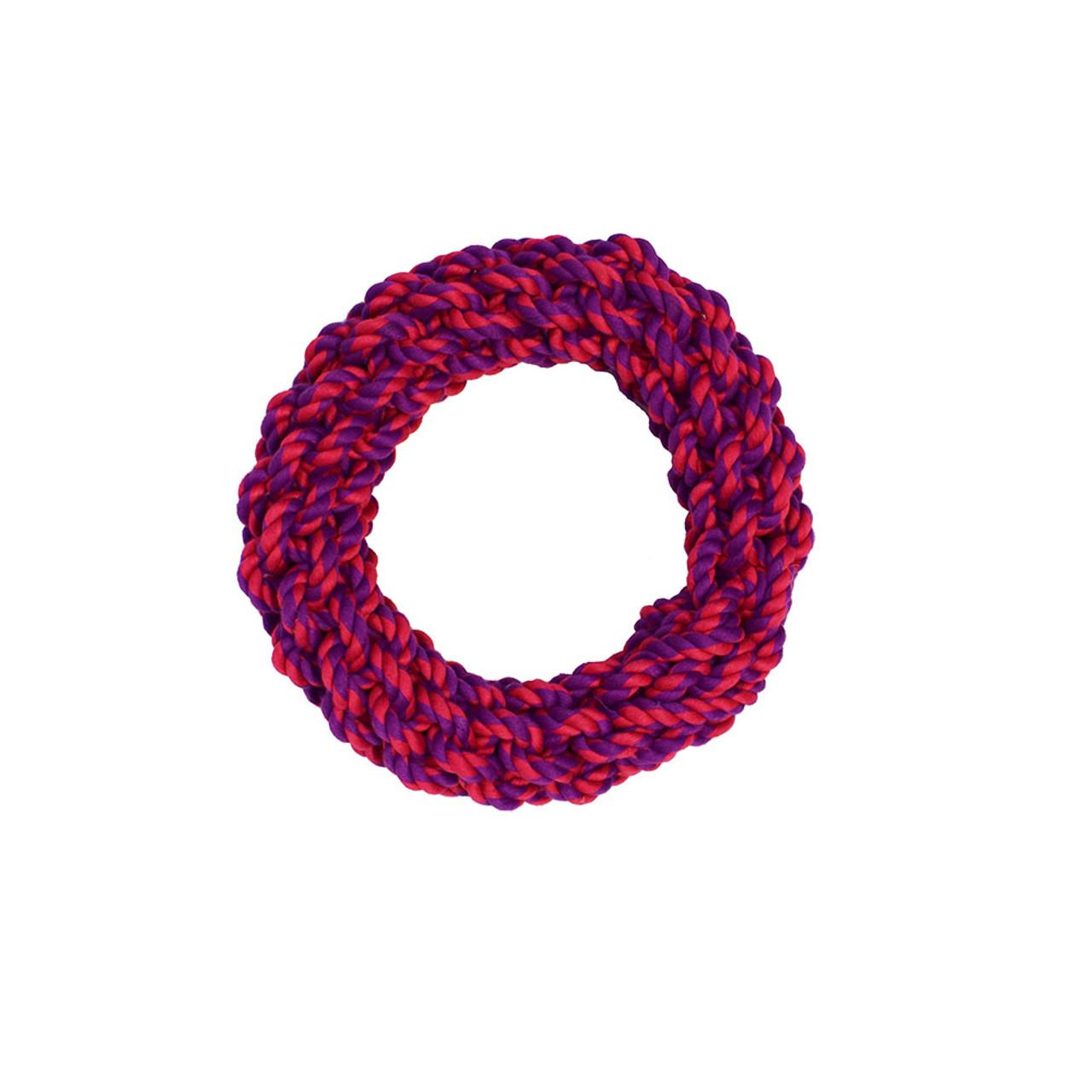 Amazing Pet Ring Rope Dog Toy - Purple & Magenta