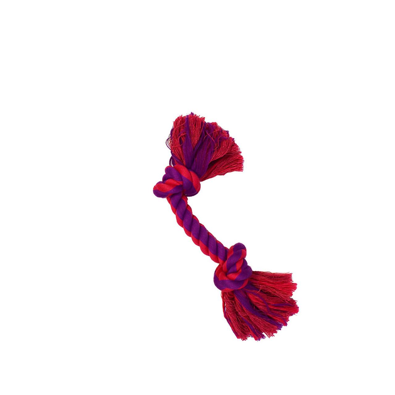Amazing Pet 2 Knot Rope Dog Toy - Purple & Magenta