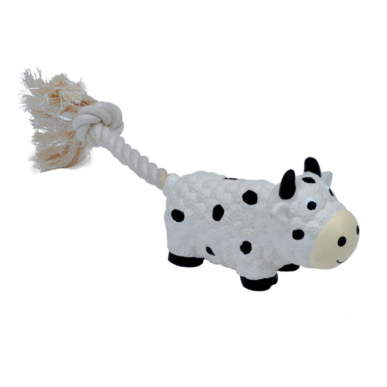 Li'l Pals Latex Cow Dog Toy