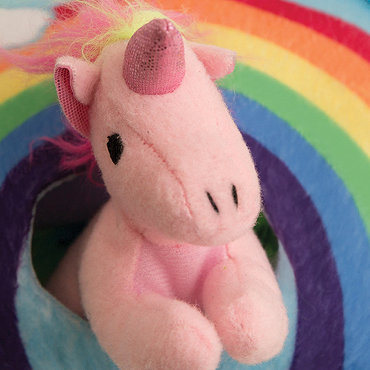 Snugarooz Hide & Seek Rainbow Interactive Plush Dog Toy