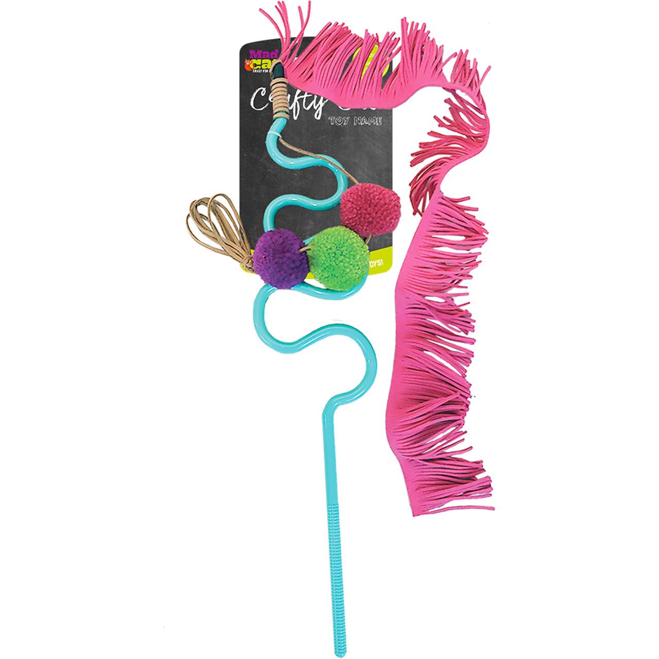 Mad Cat Frisky Fringe Wand Cat Toy