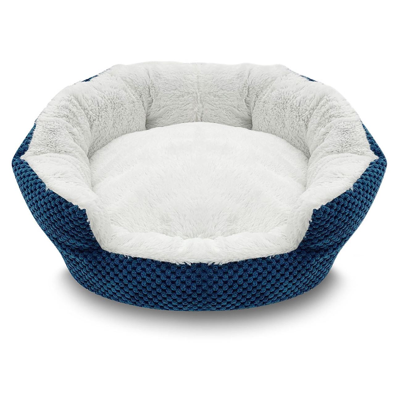 Pure Comfort Clamshell Blue Pet Bed