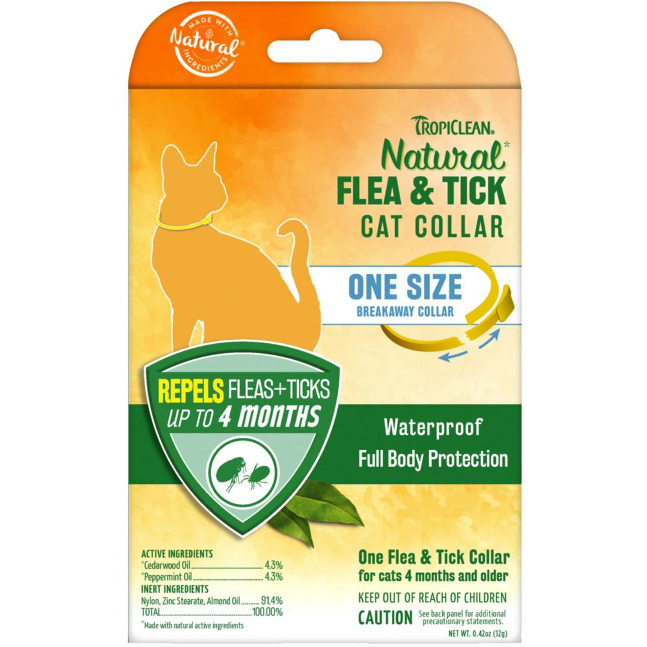 TropiClean Natural Flea & Tick Cat Collar - Front