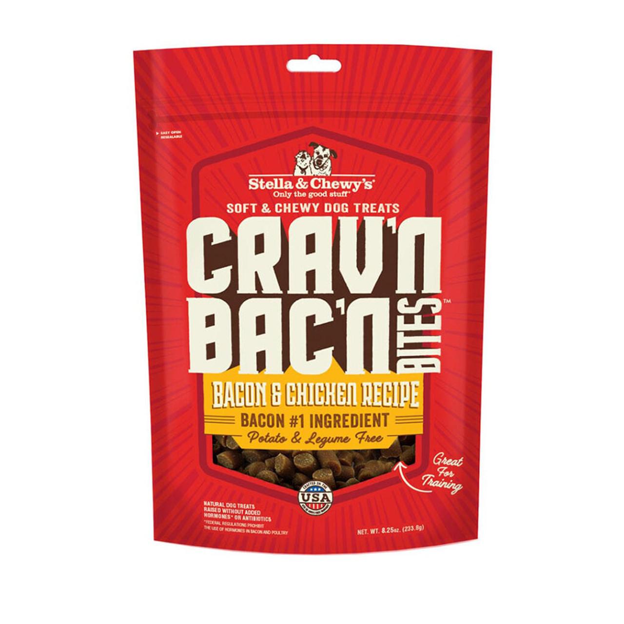 Stella & Chewy's Crav'n Bac'n Bites Bacon & Chicken Recipe Dog Treats - Front