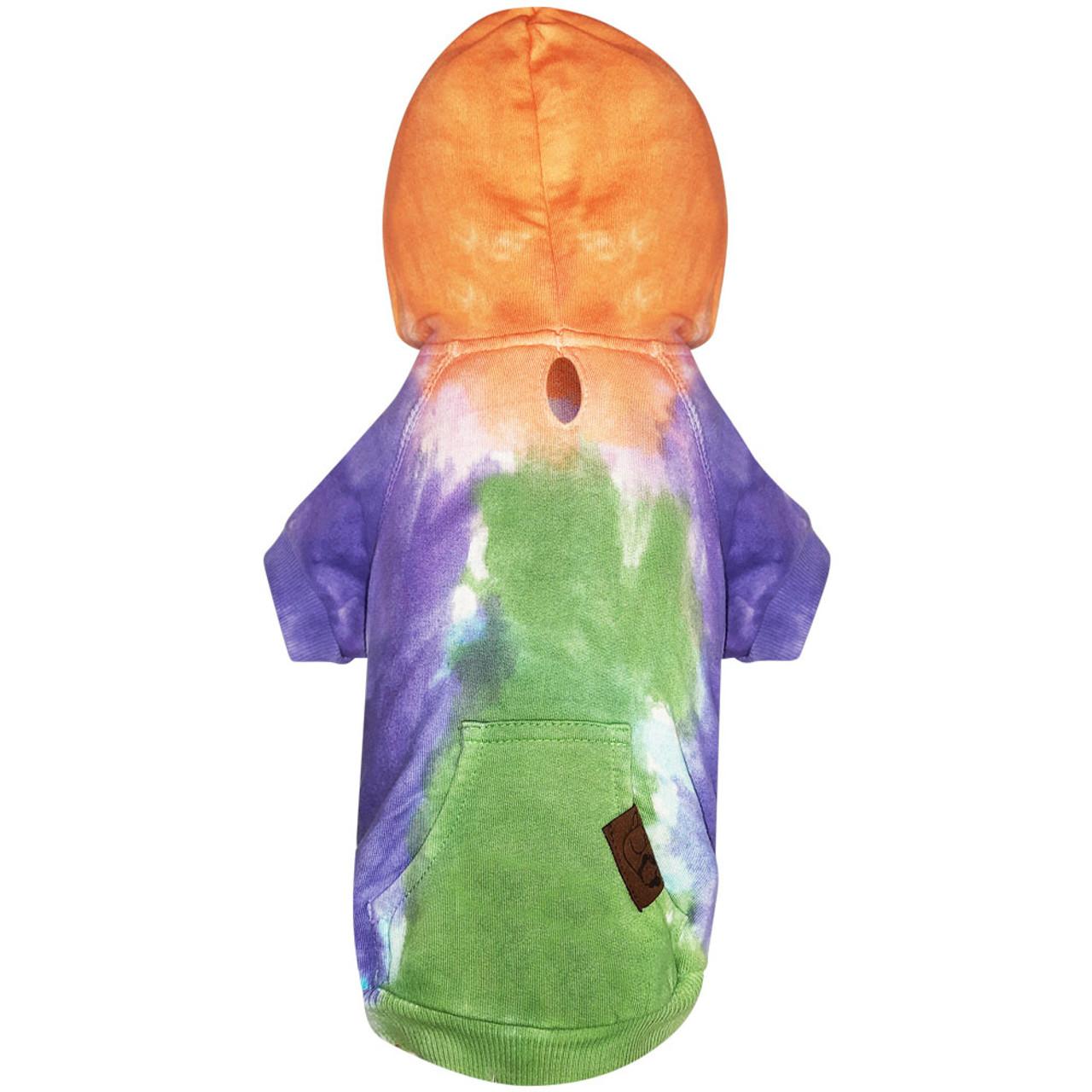 Snuggleton Tie-Dye Dog Hoodie - Front