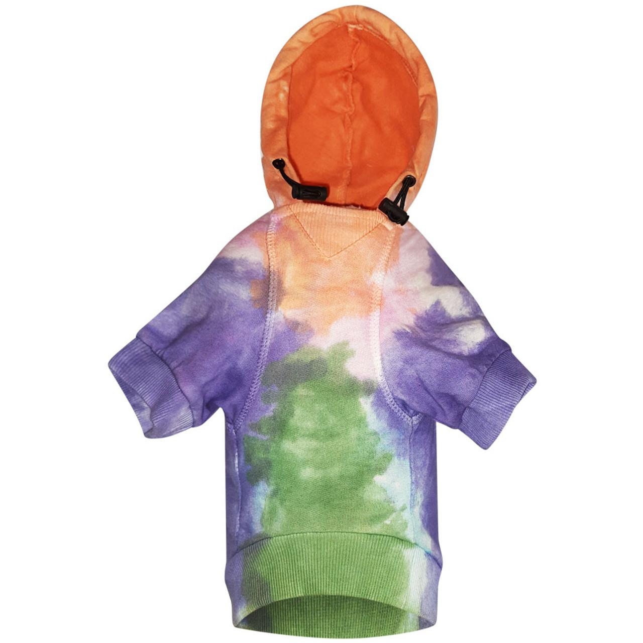 Snuggleton Tie-Dye Dog Hoodie - Back