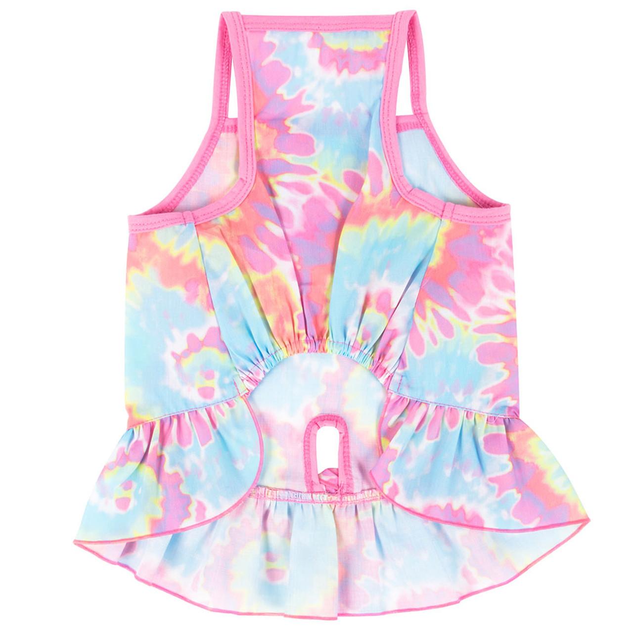 SimplyDog Tie-Dye Dog Dress - Back