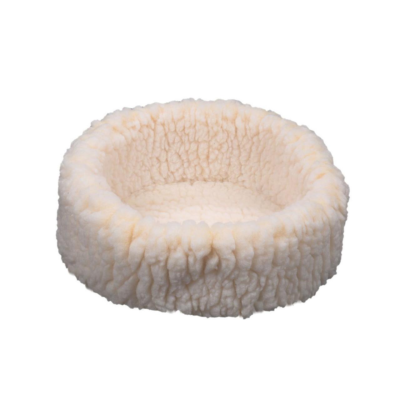 HuggleHounds HuggleFleece Snuggler Pet Bed - Front