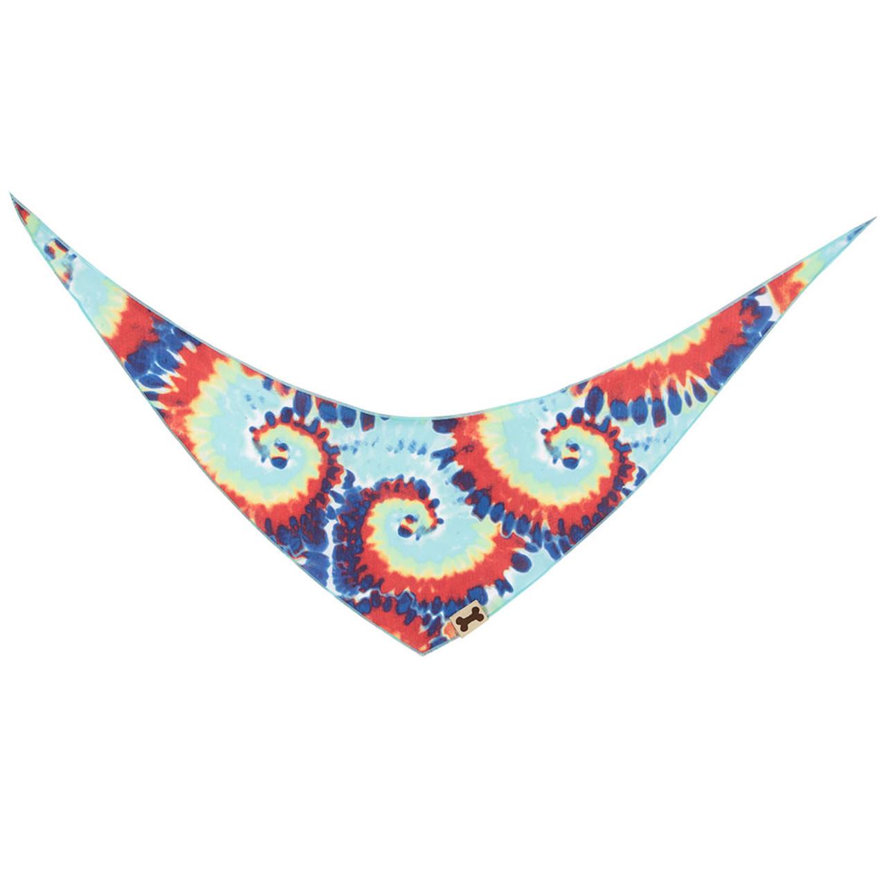 SimplyDog Tie-Dye Print Dog Bandana - Back