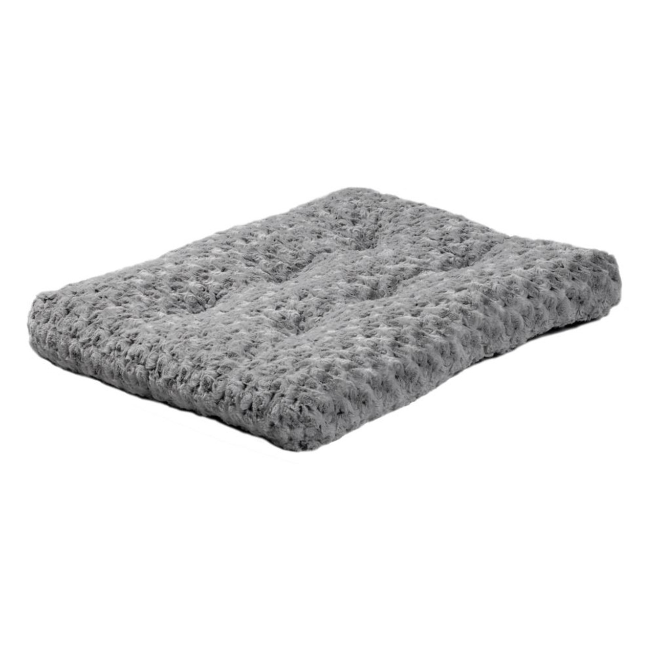 MidWest QuietTime Deluxe Gray Ombre Swirl Pet Bed - Front