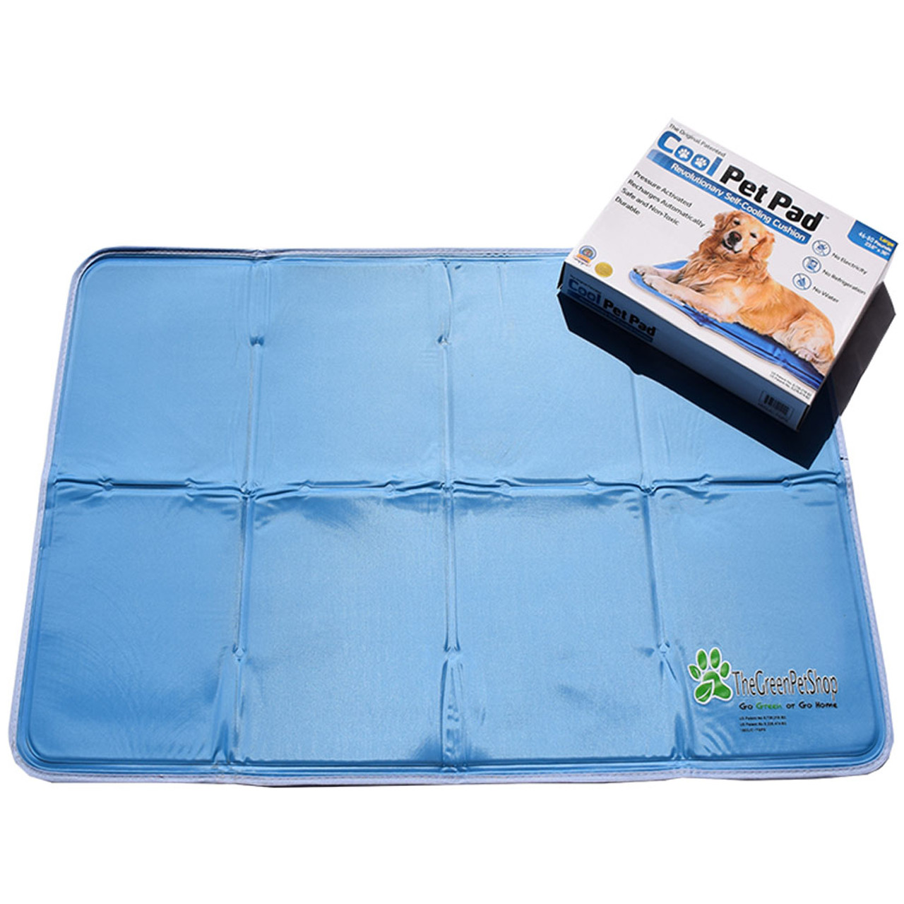 The Green Pet Shop Cooling Dog Pad - Front, Large