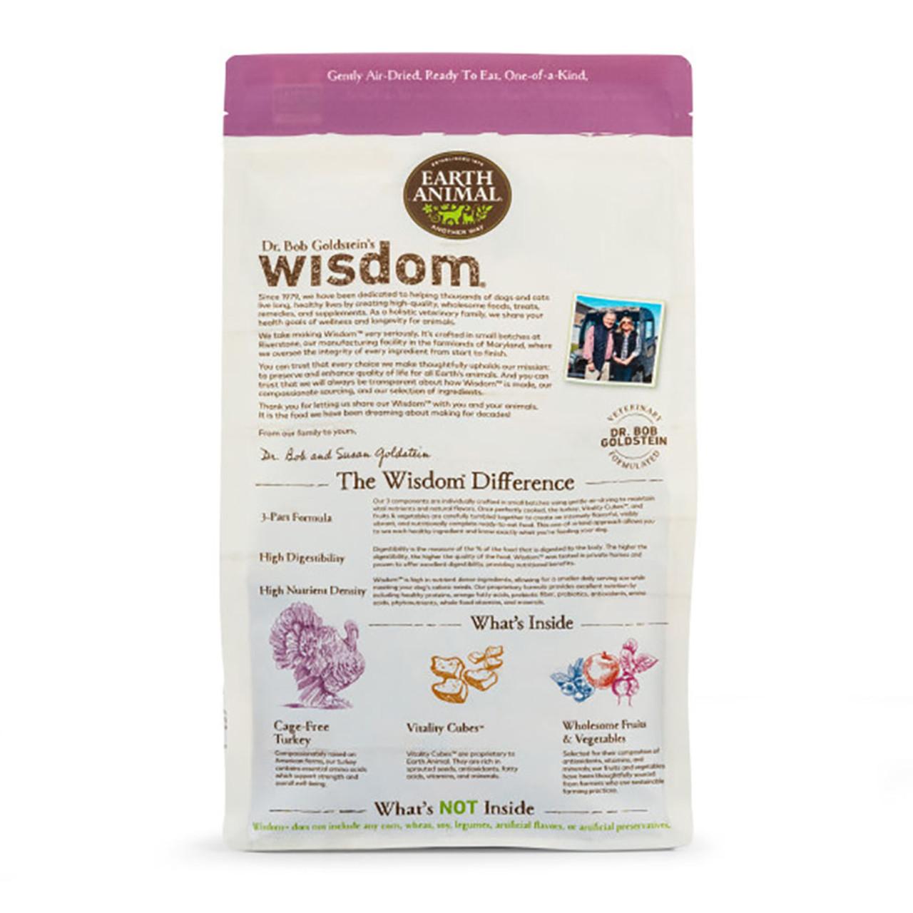 Dr. Bob Goldstein's Wisdom Turkey Recipe Air-Dried Dog Food - Back