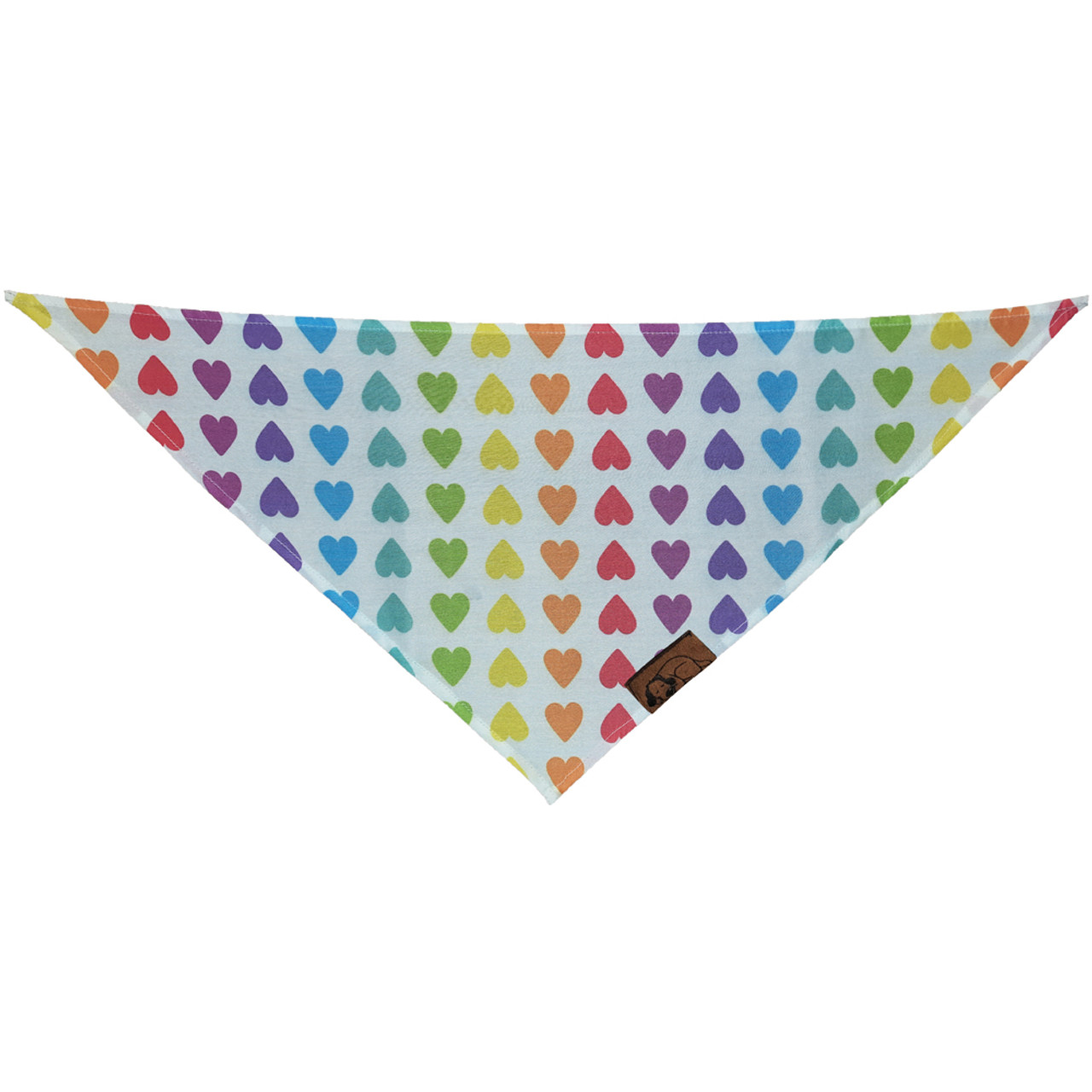Snuggleton Striped Hearts Bandana for Dogs - Front