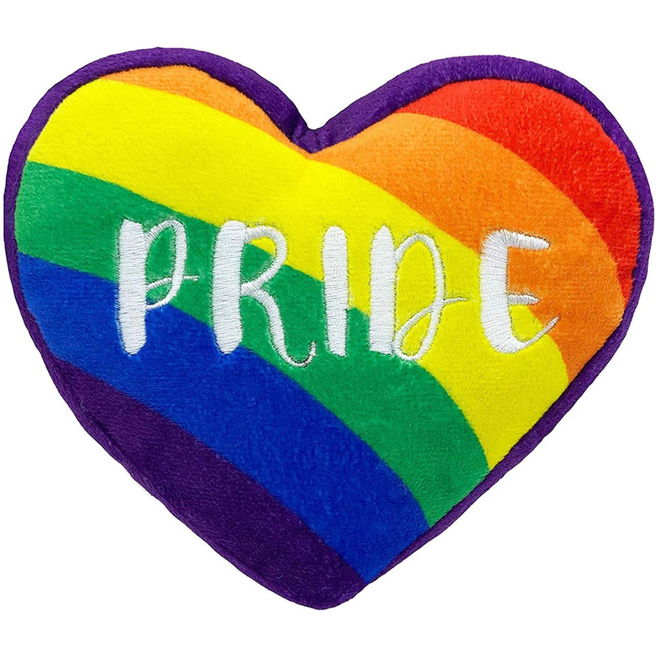 Lulubelles Power Plush Pride Heart Plush Dog Toy - Front
