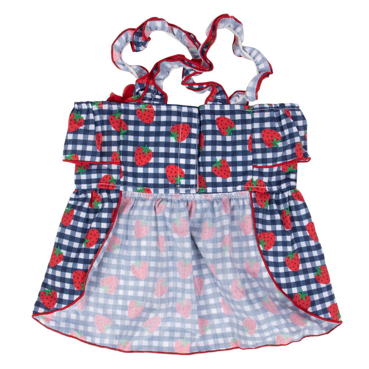 SimplyShe Strawberry Dog Dress - Back