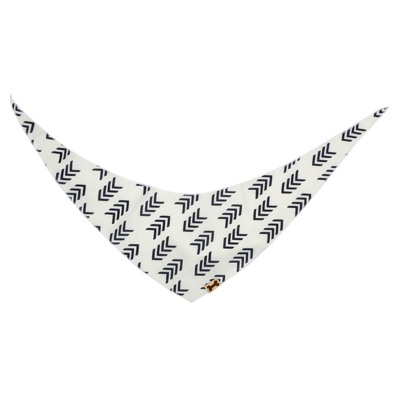 SimplyShe White Flying V Print Dog Bandana - Back