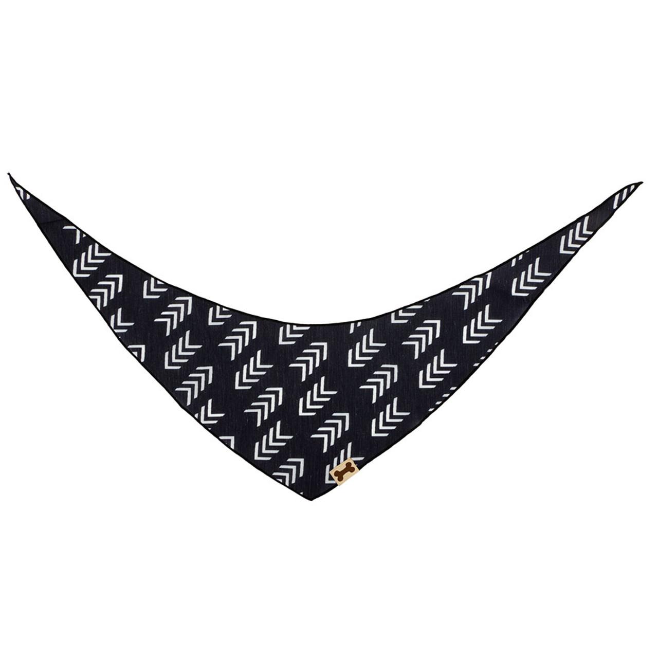 SimplyShe Black Flying V Print Dog Bandana - Back