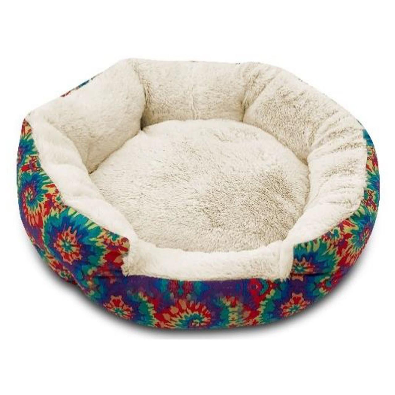 Pure Comfort Cuddler Tie Dye Pet Bed - Front