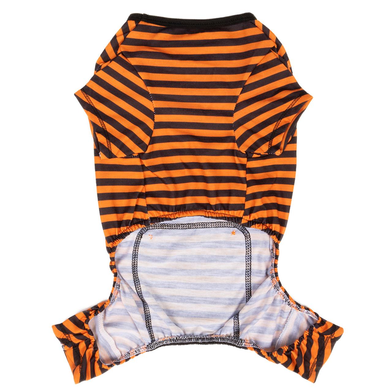 SimplyDog Halloween Pumpkin Dog Pajamas - Back