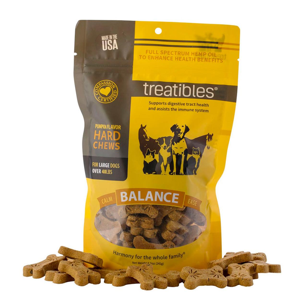 Treatibles Balance Full Spectrum Hemp Oil Hard Chews for Large Dogs