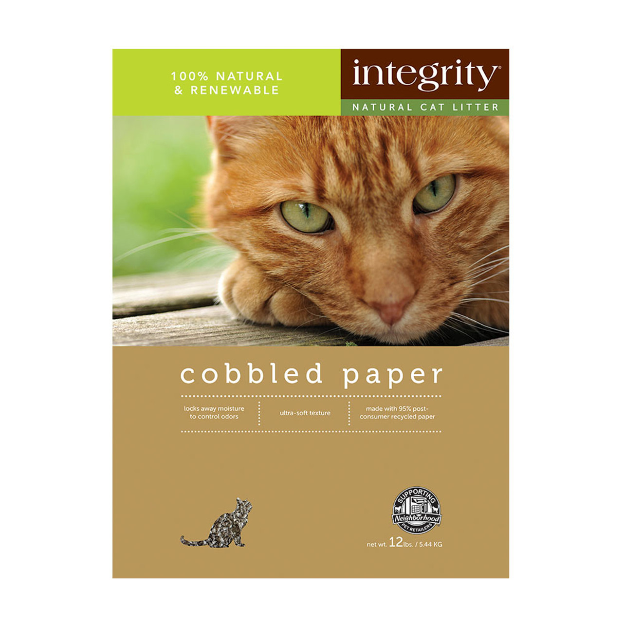 Integrity Cobbled Paper Cat Litter