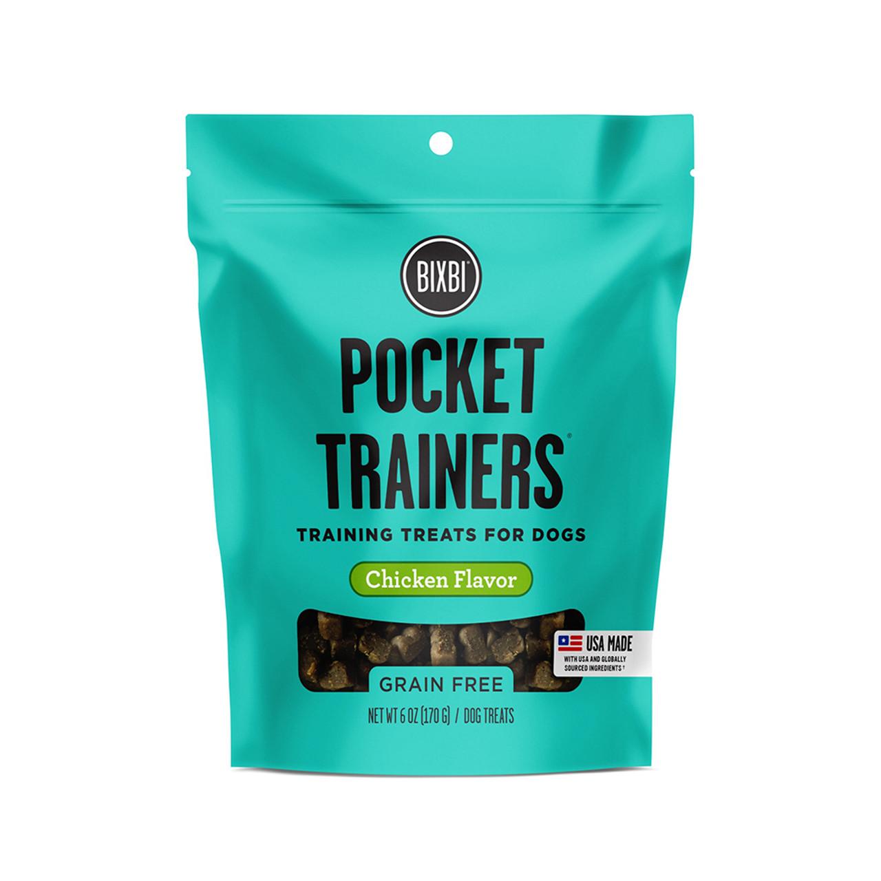 Bixbi Pocket Trainers Chicken Flavor Dog Training Treats - Front