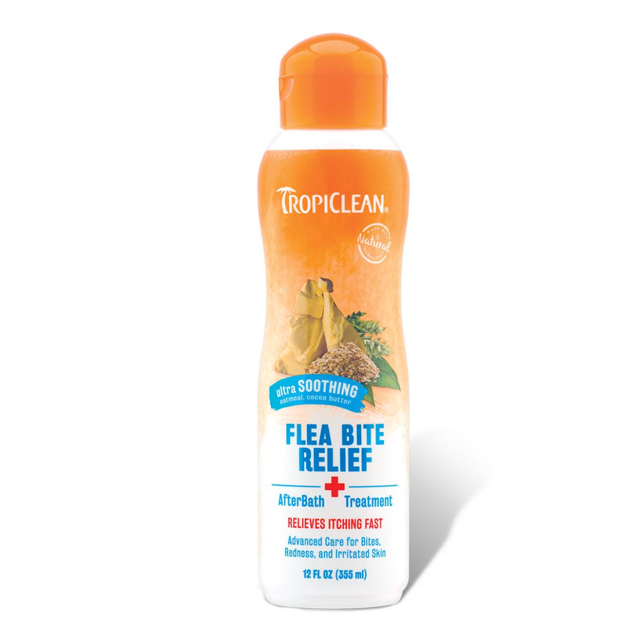 TropiClean Natural Flea & Tick Bite Relief After Bath Treatment for Pets