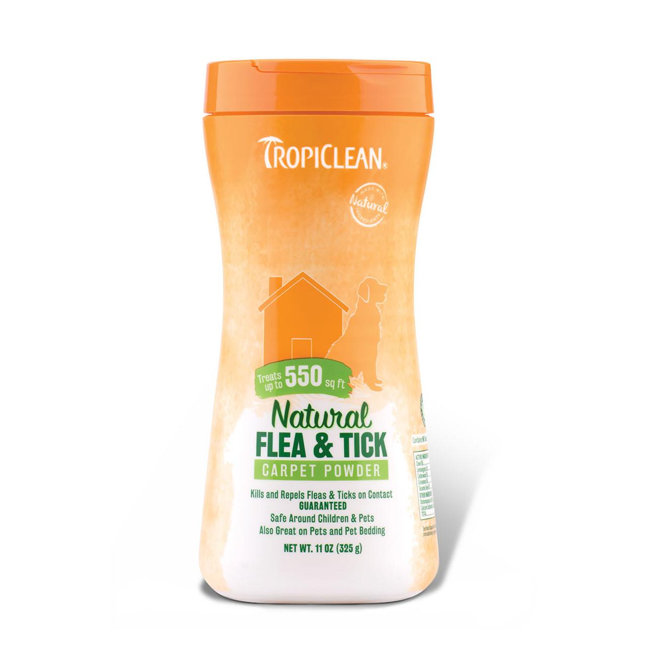 TropiClean Natural Flea & Tick Carpet & Pet Powder