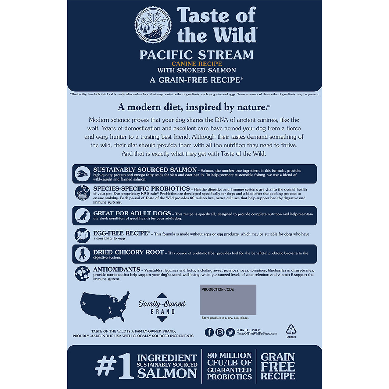 Taste of the Wild Pacific Stream Canine Recipe Dry Dog Food - Back