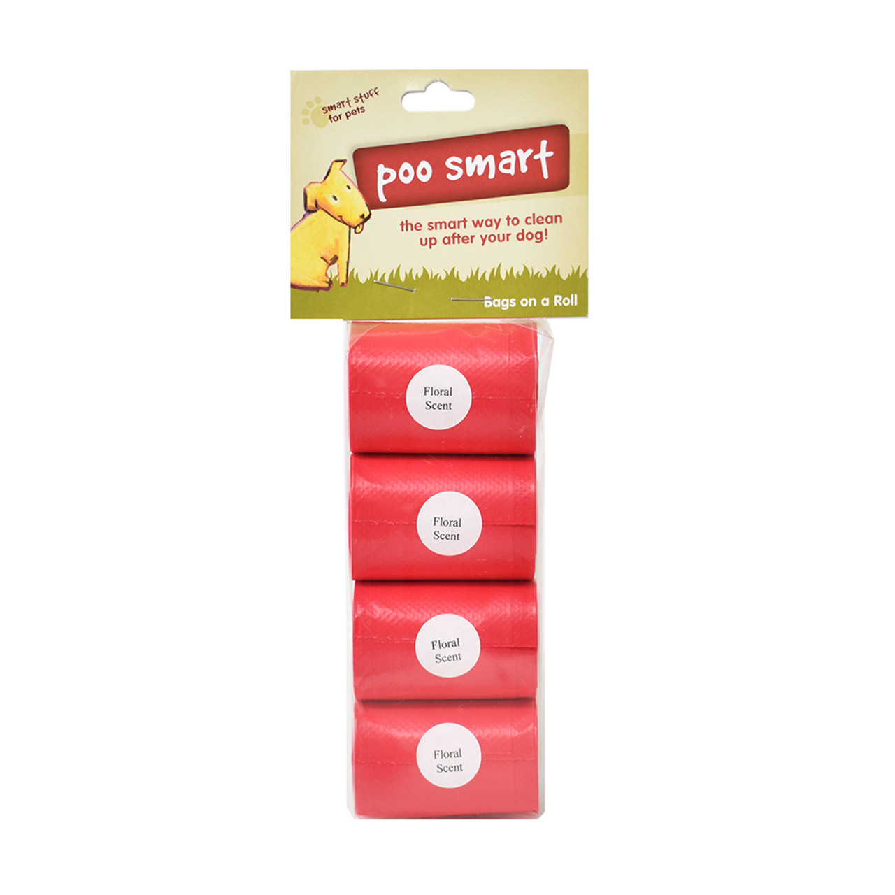 Poo Smart Floral Scent Dog Waste Disposal Refill Bags