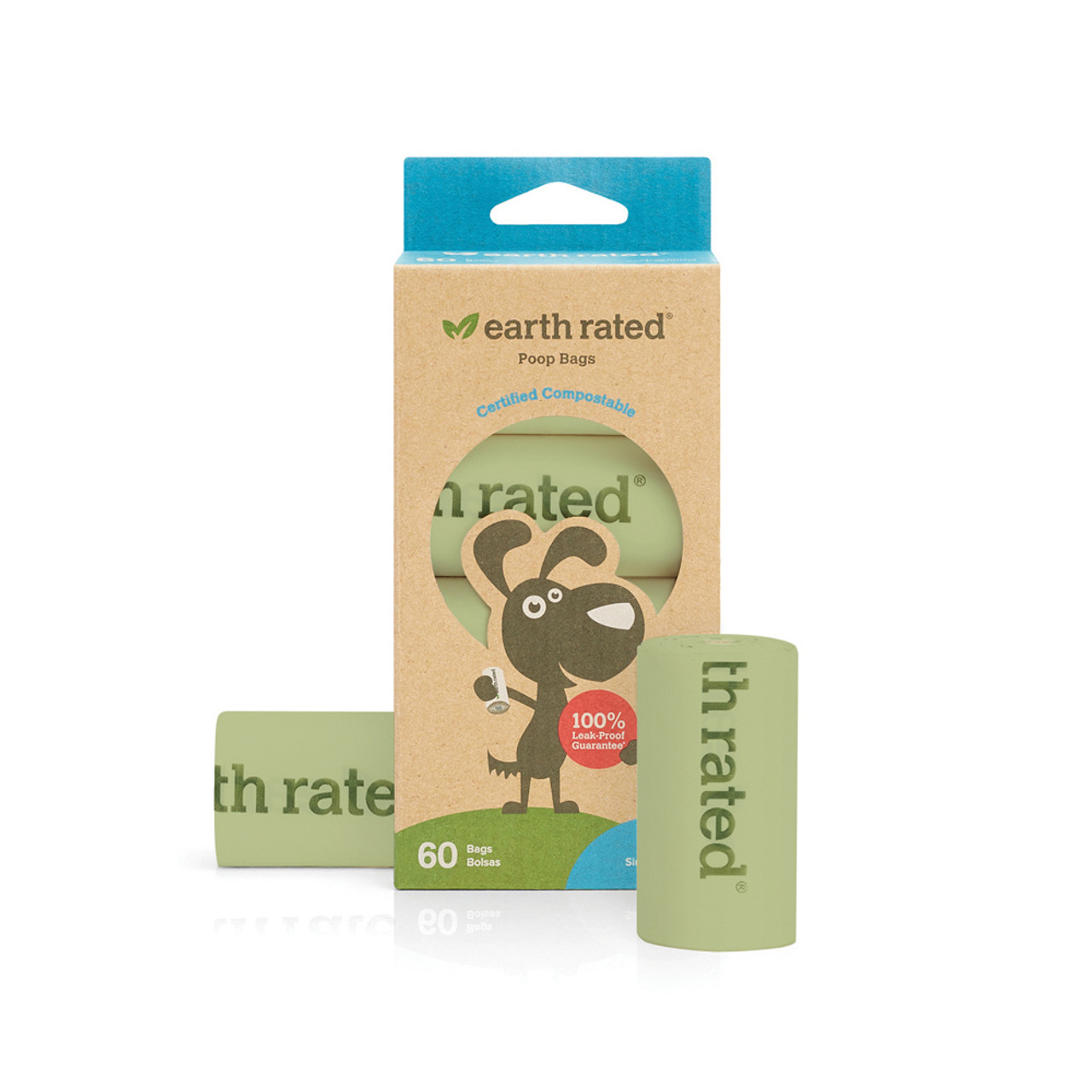 Earth Rated Compostable Unscented Refill Rolls for Waste Disposal