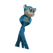 Kong Wubba Ballistic Friends Dog Toy, Assorted - Blue Bear