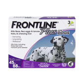 Frontline Plus Flea & Tick Treatment for Dogs & Puppies (45-88 lbs.) - Front