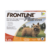 Frontline Plus Flea & Tick Treatment for Small Dogs & Puppies (5 - 22 lbs.) - Front