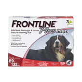 Frontline Plus Flea & Tick Treatment for Dogs & Puppies (89-132 lbs.) - Front