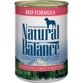 Natural Balance Ultra Premium Beef Formula Canned Dog Food