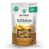 Pet Releaf Edibites Peanut Butter & Banana Large Breed Hemp Dog Treats