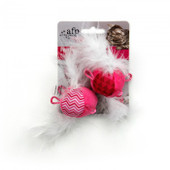All for Paws Modern Cat Feather Balls - Pink