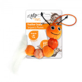 All for Paws Modern Cat Feather Snake Toy - Orange