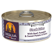 Weruva Steak Frites with Beef, Pumpkin and Sweet Potatoes in Gravy Canned Dog Food